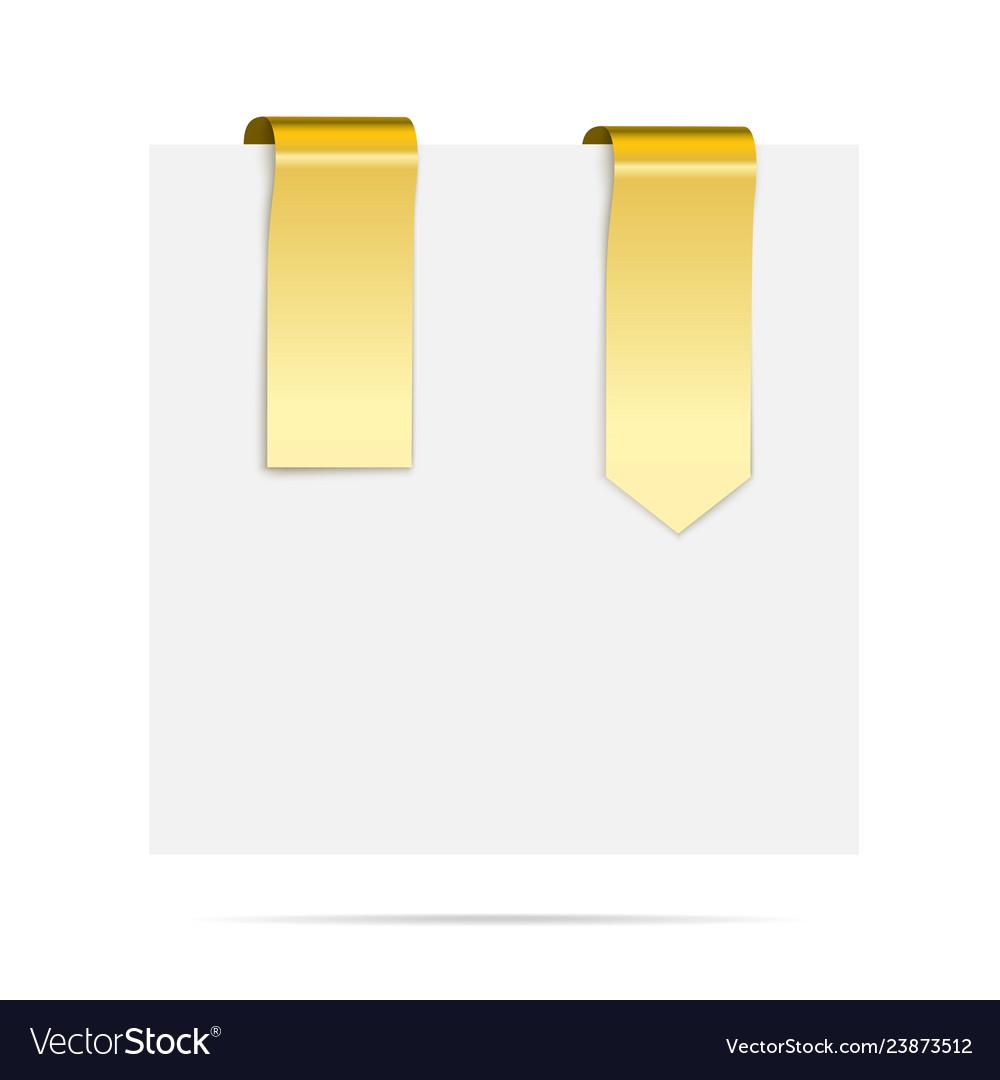 Golden ribbons - design elements for design