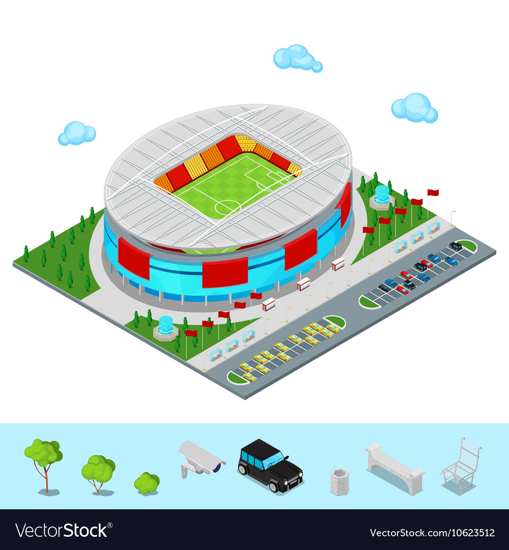 Isometric Football Soccer Stadium Building