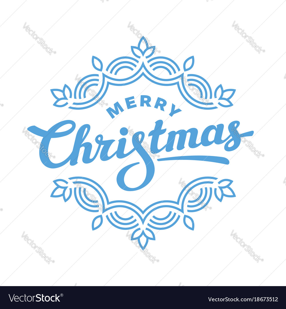 Merry christmas lettering greeting card design