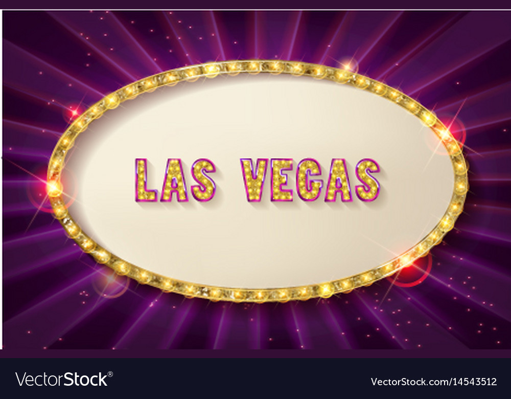 Retro frame with five stars las vegas Royalty Free Vector