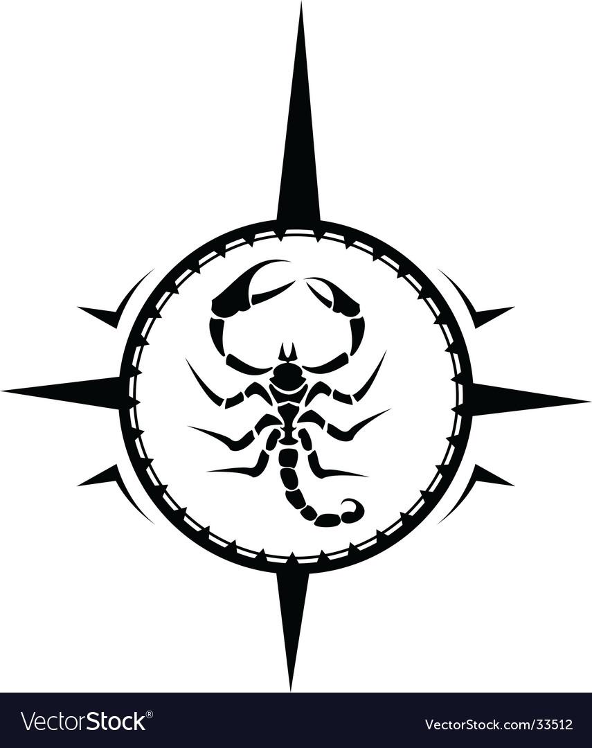 Scorpion tattoo vector image