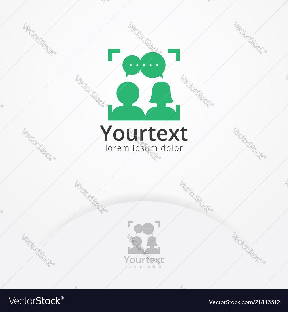 Social portrait logo