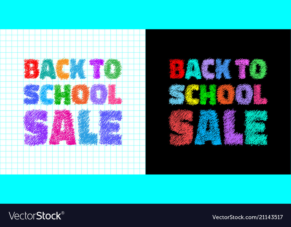 Back to school sale colorful bright banners