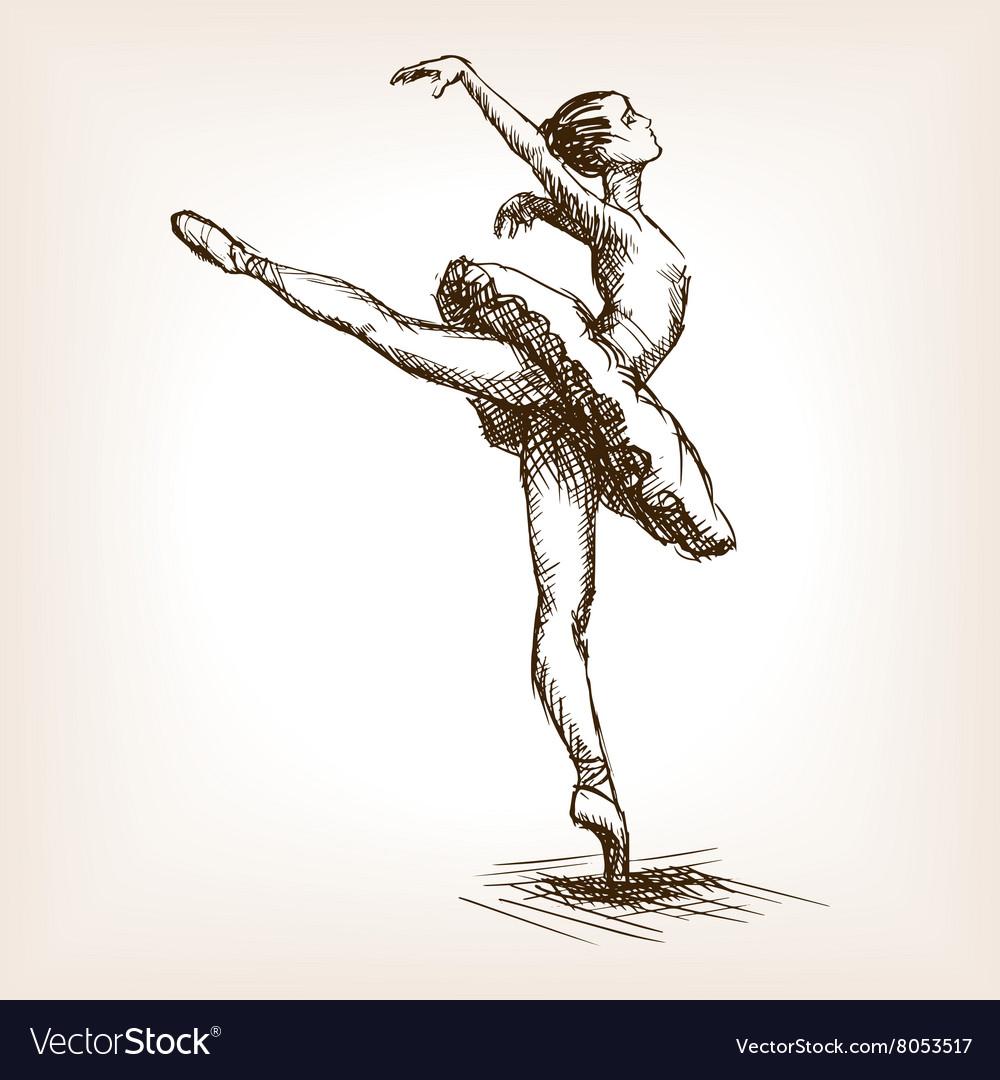 Ballet dancer girl sketch