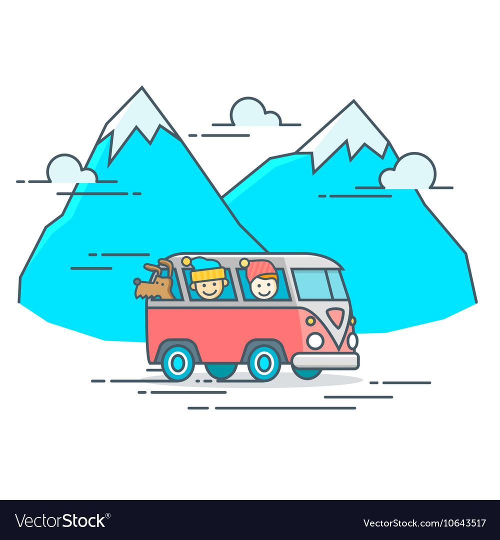 Camper Van in the mountain