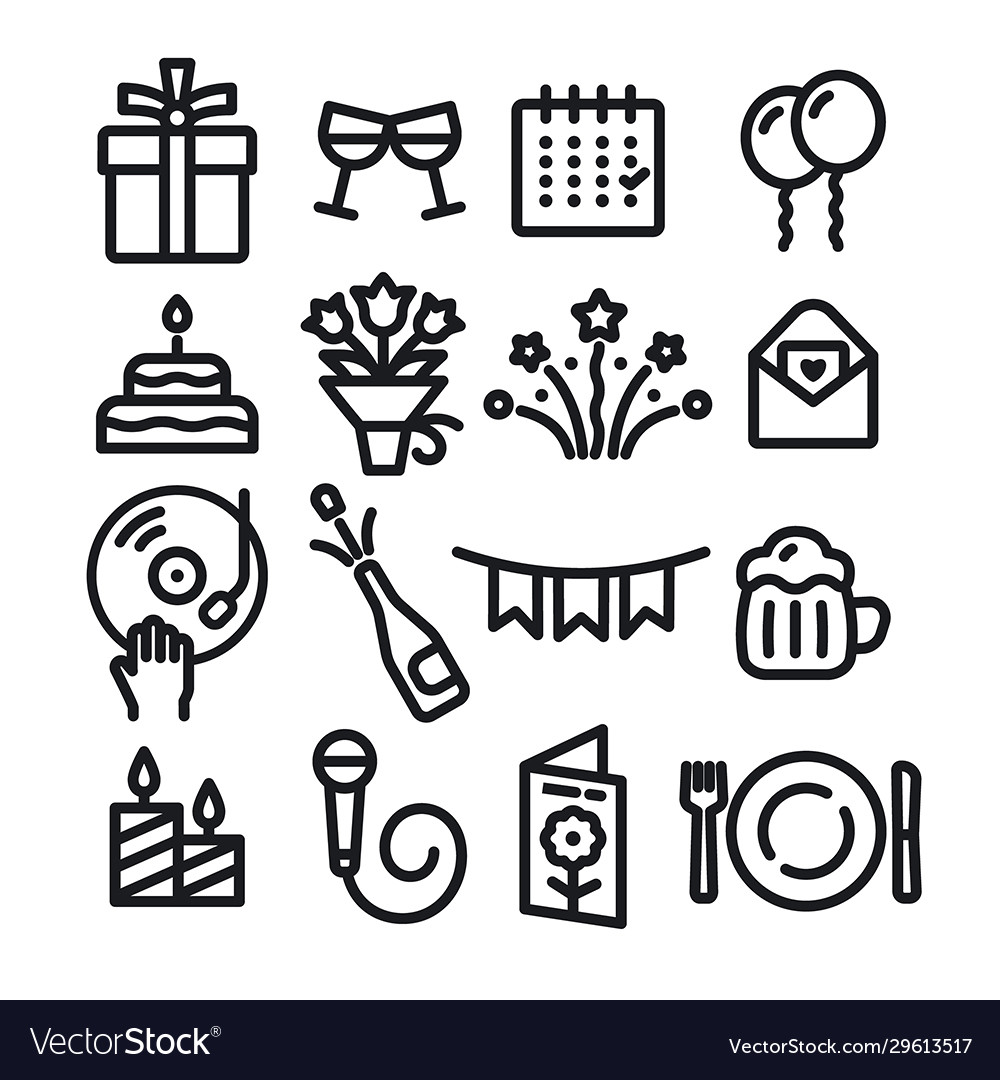 Celebrations icons