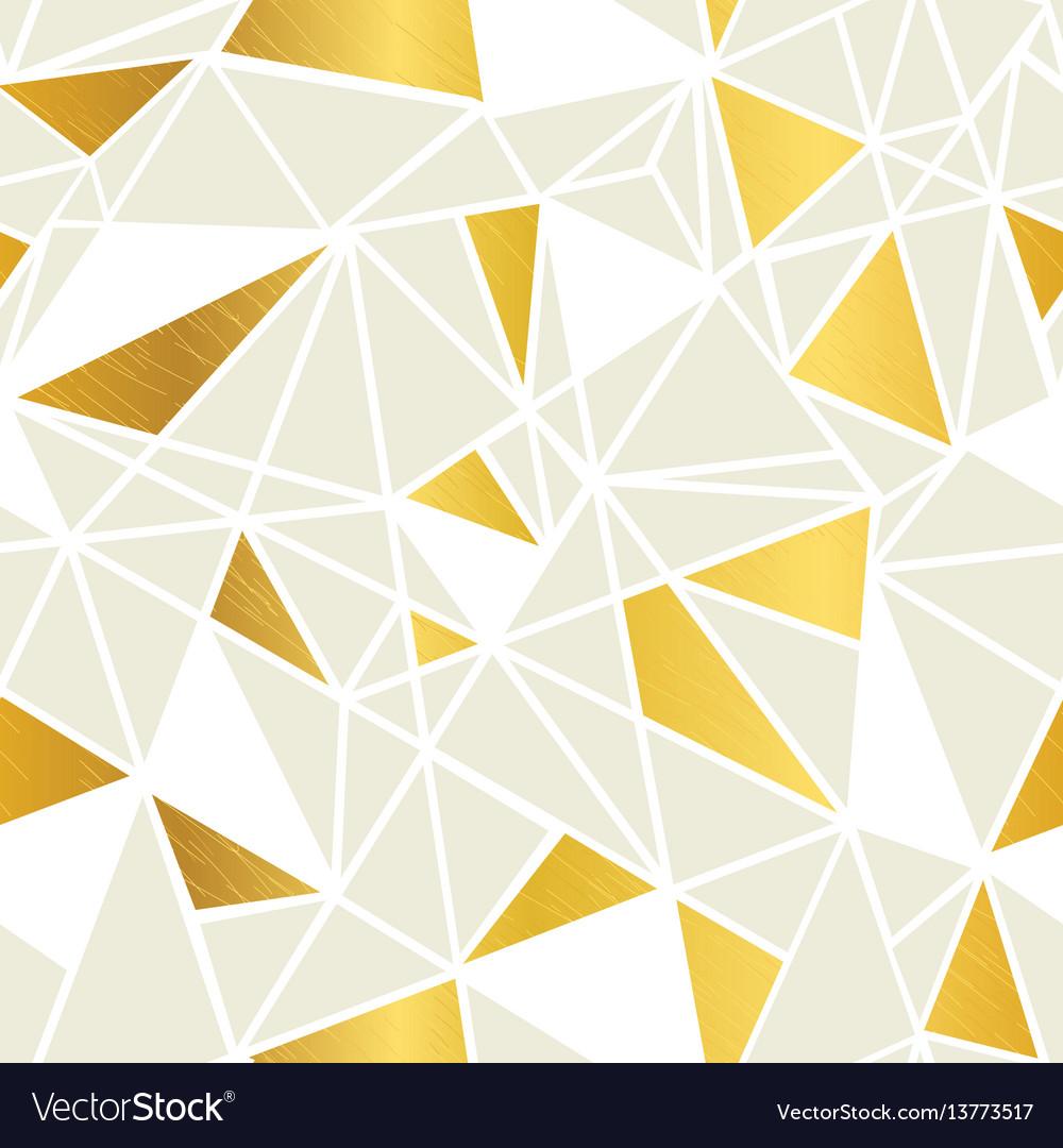 Cream and gold foil geometric mosaic