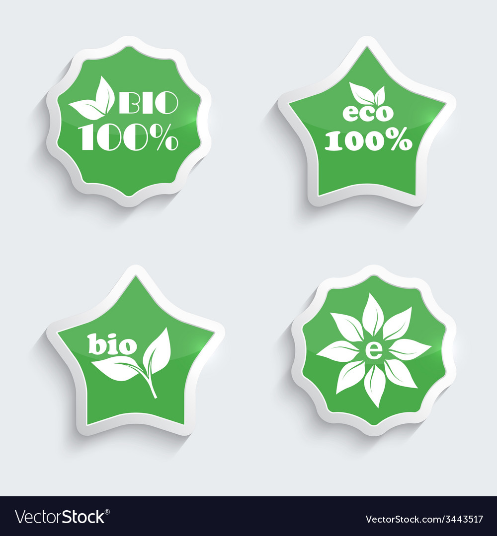 Glossy plastic buttons with environmental icons