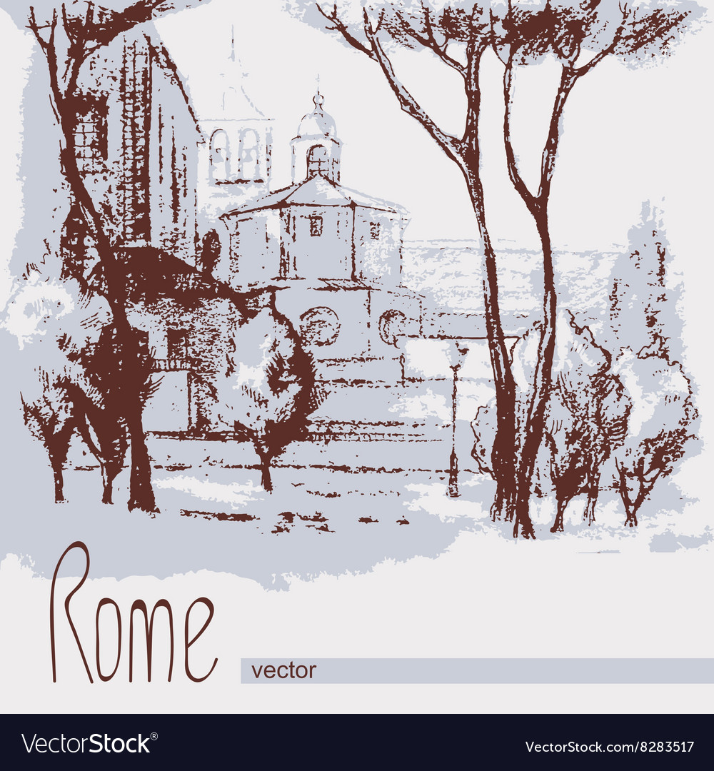 Graphic of Rome Italy Poster