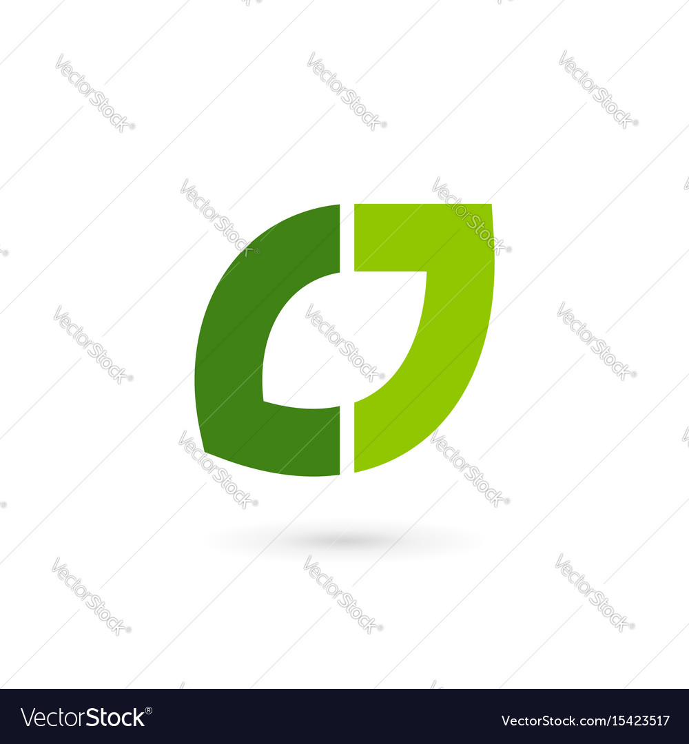 Letter j eco leaves logo icon design template