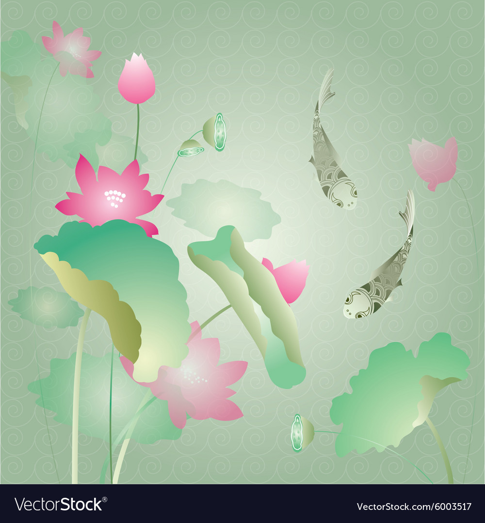 Lotus Flower Background Royalty Free Vector Image
