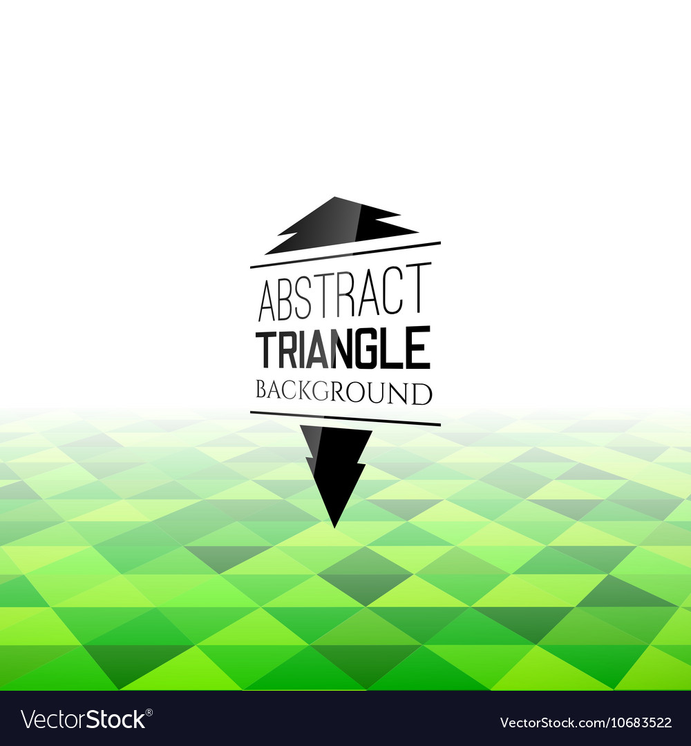 Abstract green triangle field perspetive pattern