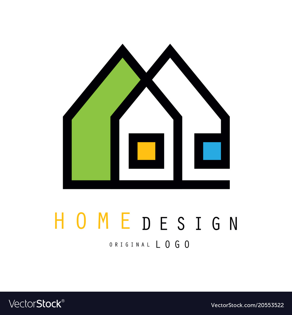 Abstract houses for logo of construction or