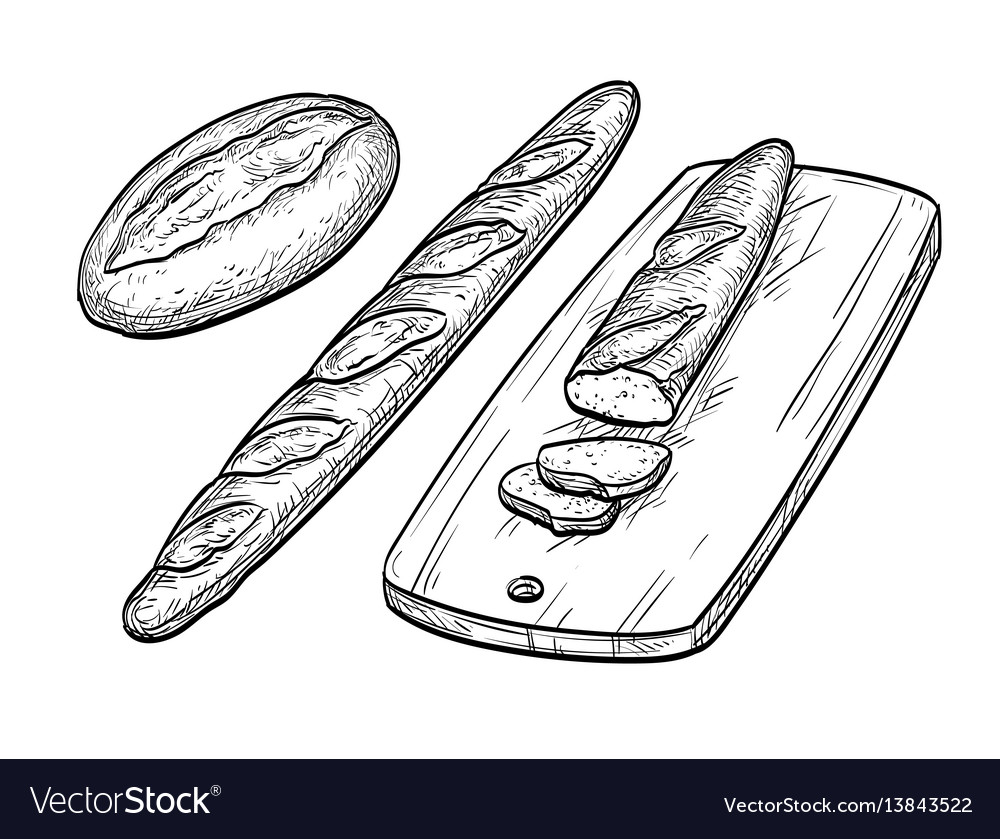 Baguette and rustic bread
