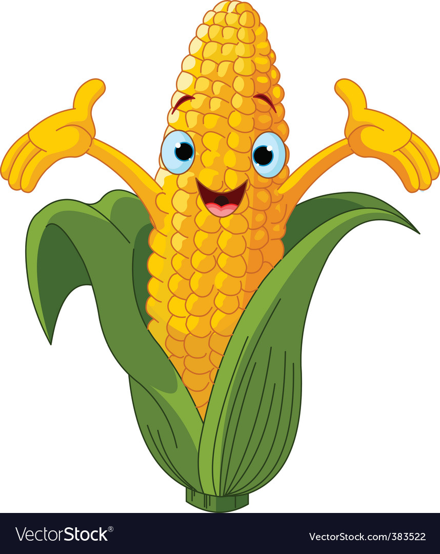 corn cartoon character royalty free vector image Corn Clip Art Corn Clip Art