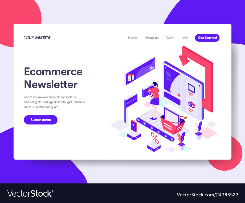 Landing page template ecommerce newsletter