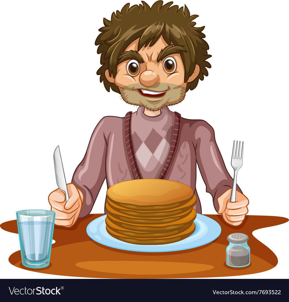 Image result for pictures of people eating pancakes
