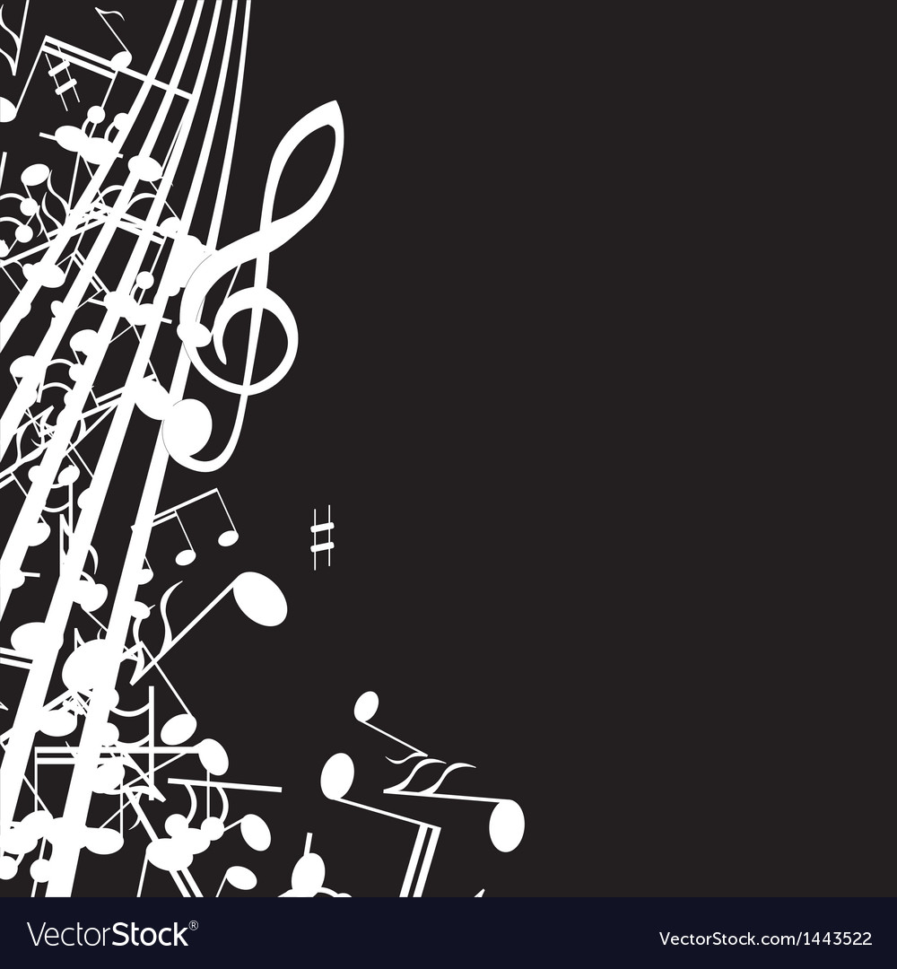 Music note background design Royalty Free Vector Image