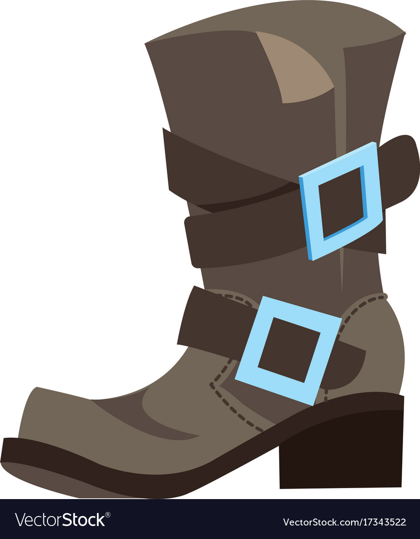 Old mens boots cartoon drawing for gaming mobile vector image