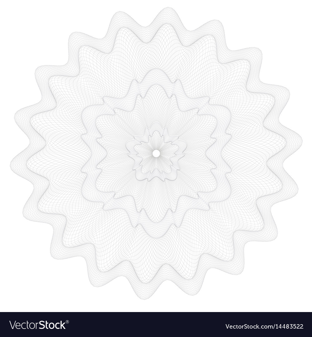 Watermark guilloche pattern for certificate vector image