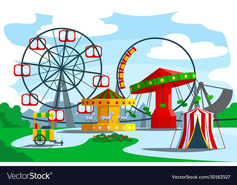 Amusement park territory