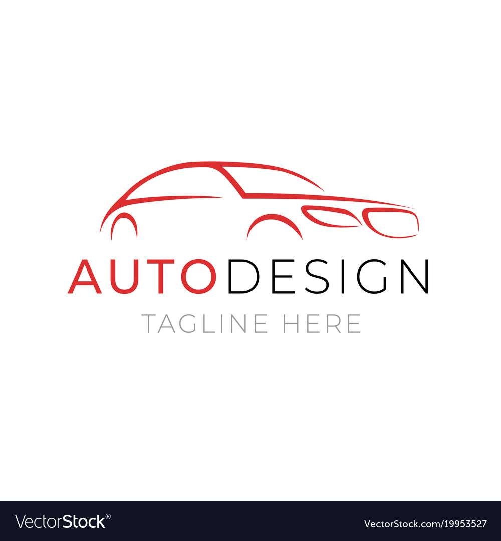 Auto Logo Template Car Service Or Dealer Shop Vector Image