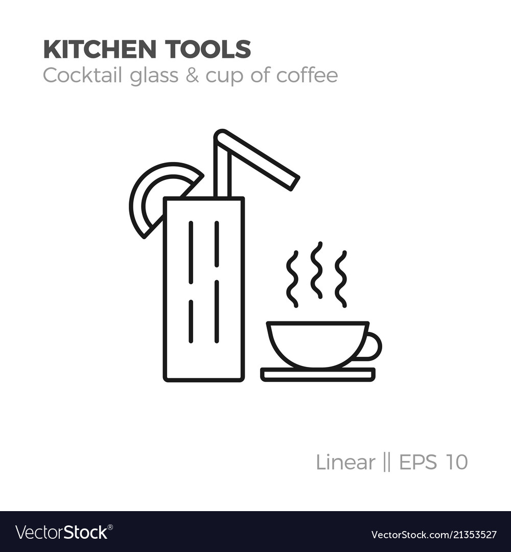 Linear kitchenware icon