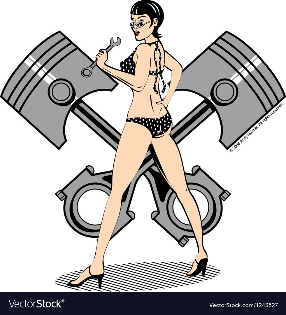 Piston girl vector image