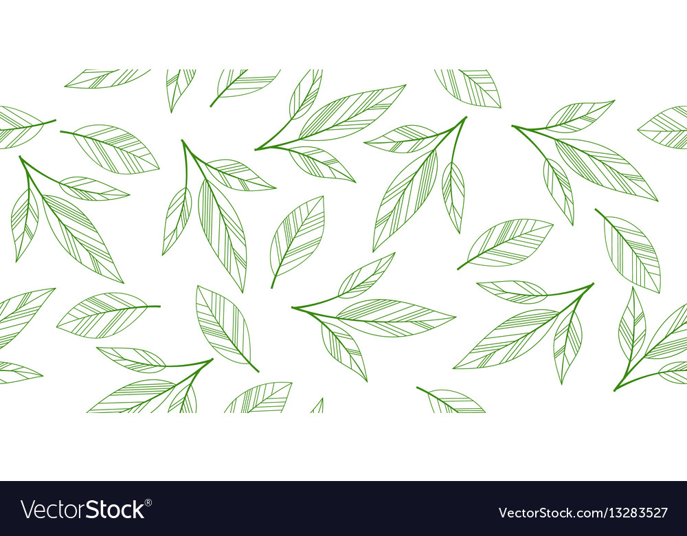 Seamless leaves isolated vector image