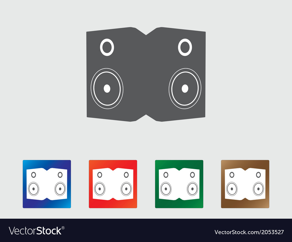 Speakers icons vector image