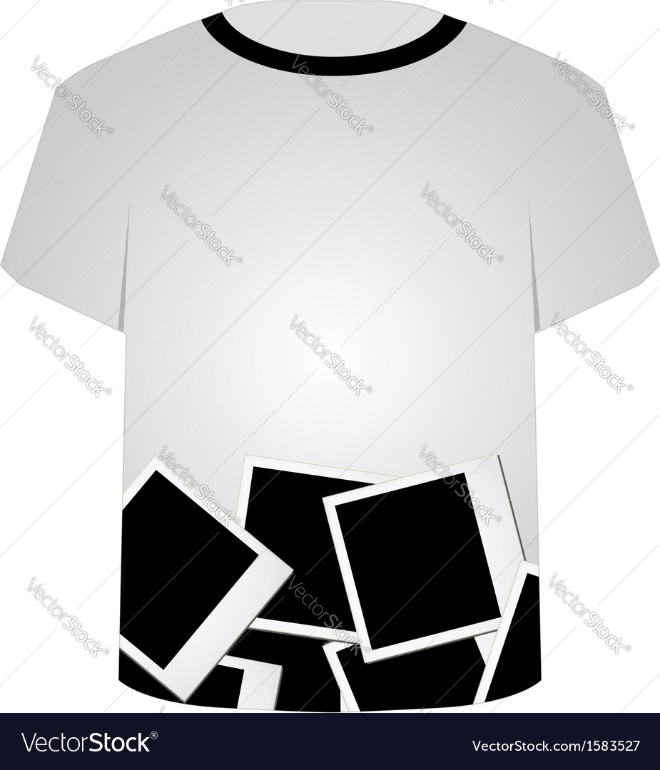 T shirt template polaroid collage royalty free vector image t shirt template polaroid collage vector image maxwellsz