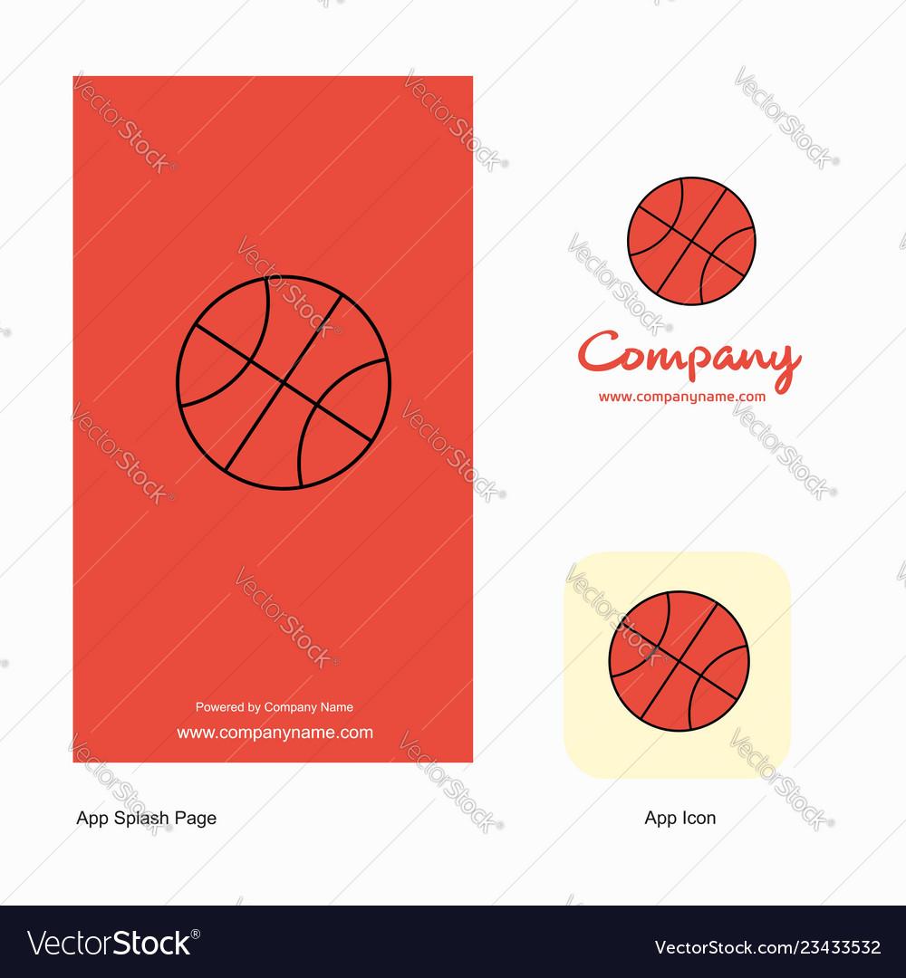 Basket ball company logo app icon and splash page