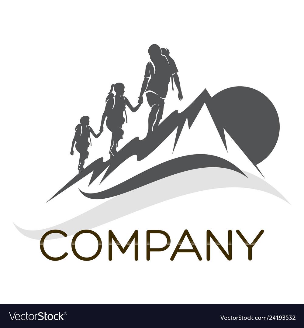 Family camping logo