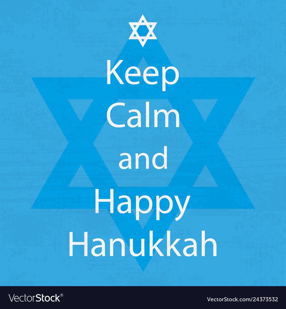 Happy hanukkah day keep calm