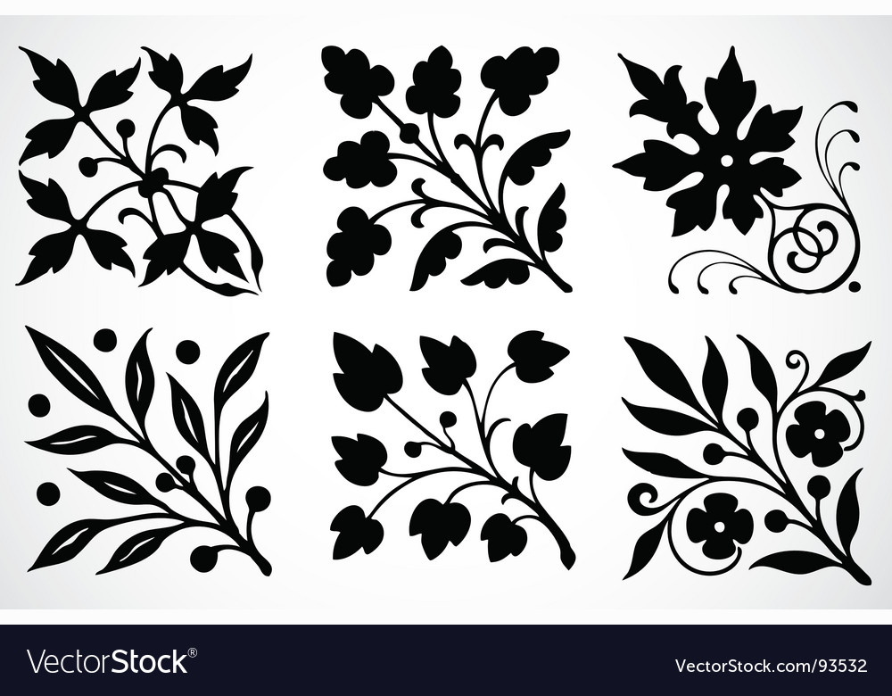 leaf ornaments royalty free vector image vectorstock vectorstock