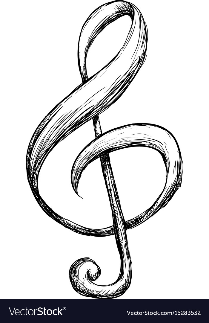 Music Note Symbol Royalty Free Vector Image Vectorstock