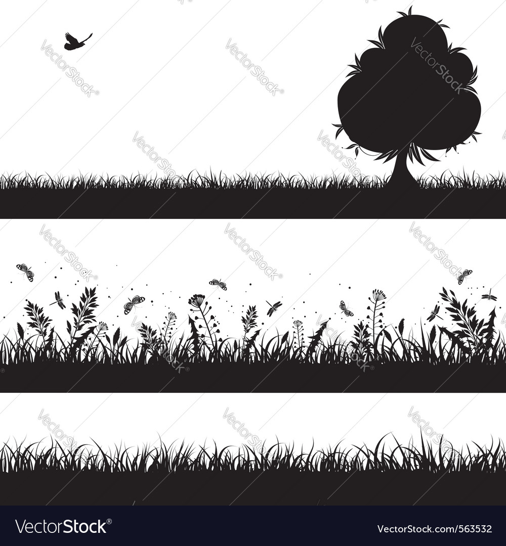 Nature background silhouette
