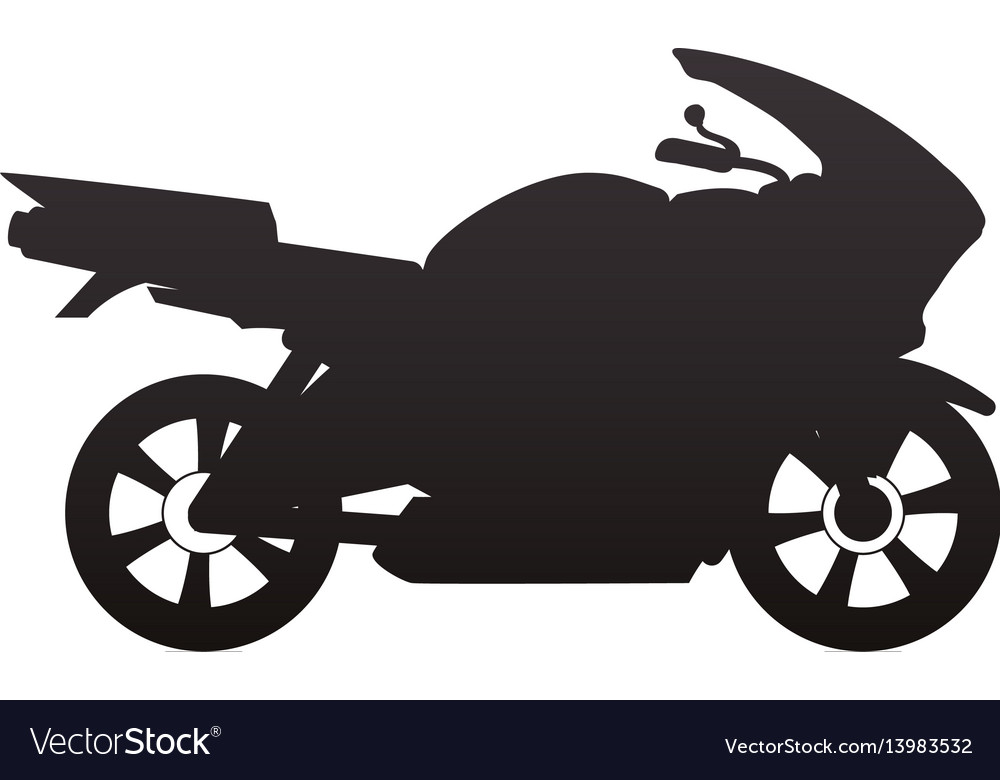 Racing Motorcycle Silhouette Royalty Free Vector Image