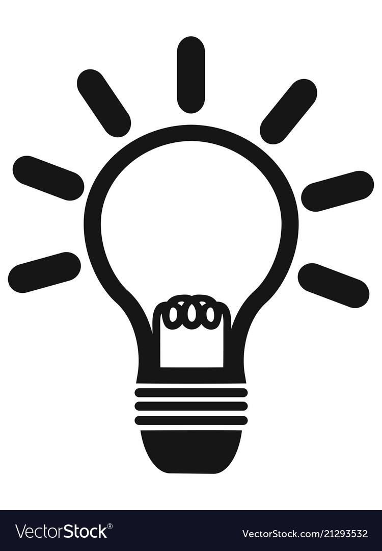 Simple lightbulb icon