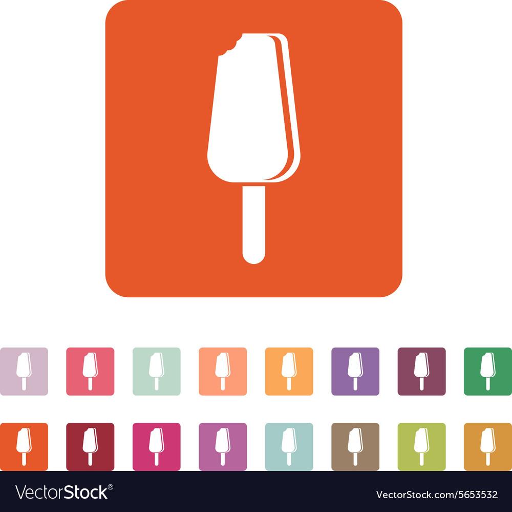 The ice cream icon Eskimo pie symbol Flat