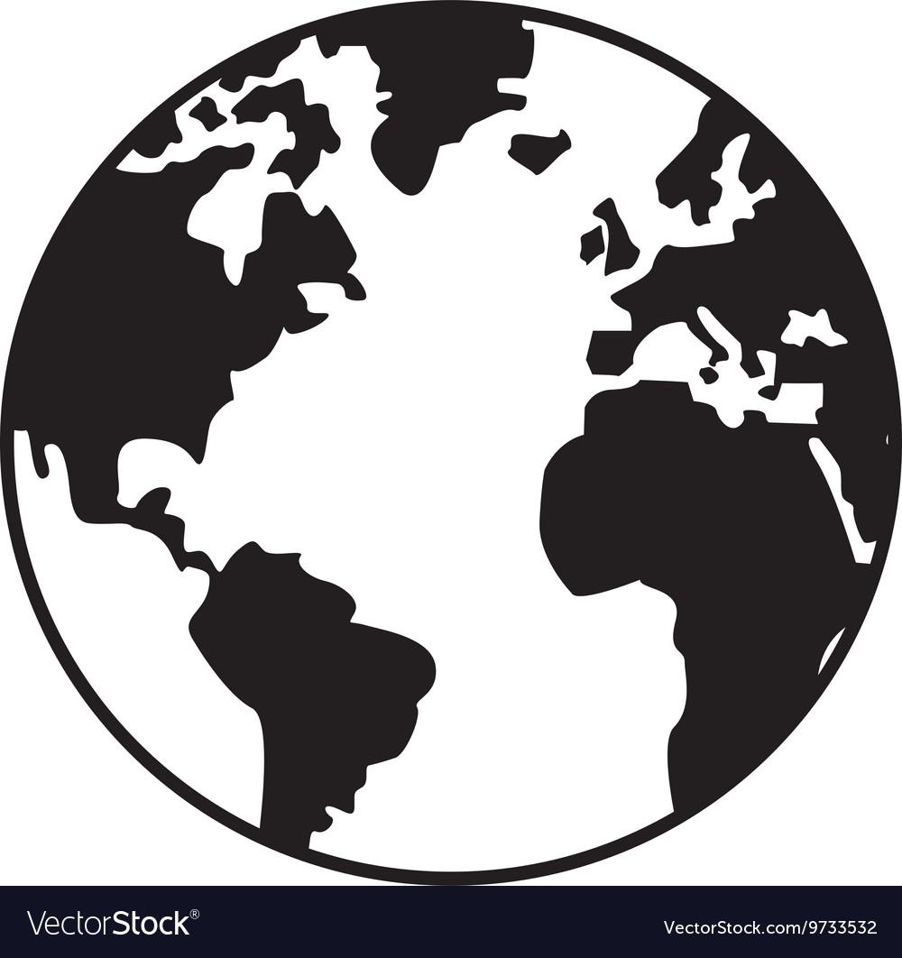 World map globe earth icon