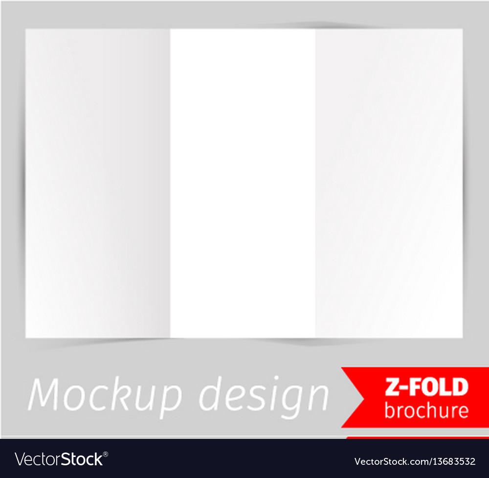 Z-fold brochure mockup design