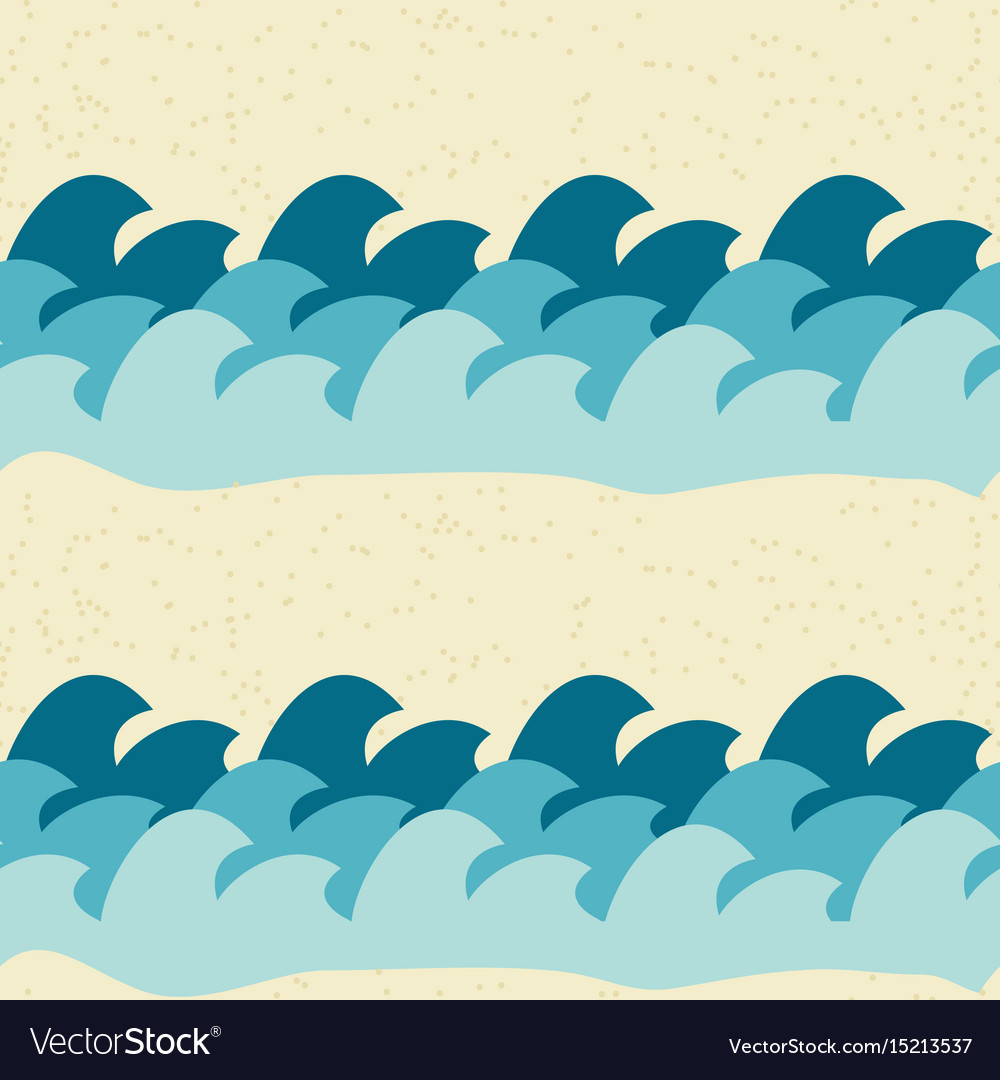 Abstract simple wave seamless pattern background