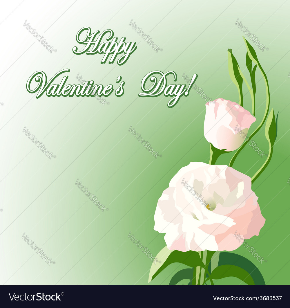 Beautiful flowers background for valentine day vector image izmirmasajfo