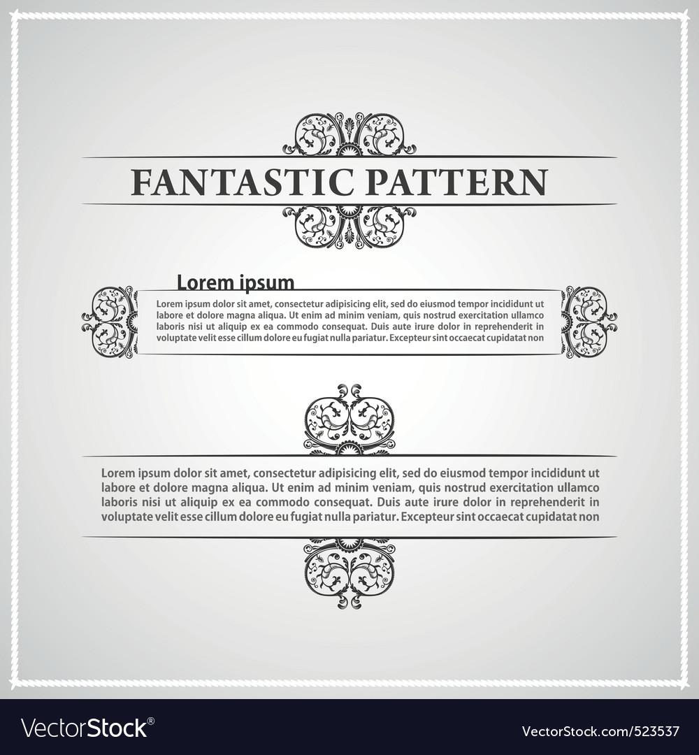 Calligraphic vintage document vector image