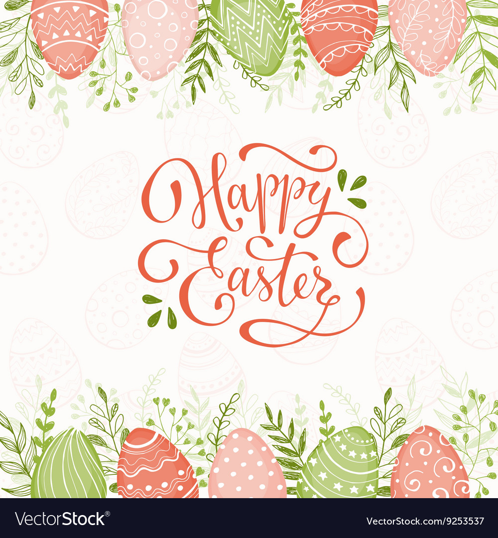 Happy easter wreath