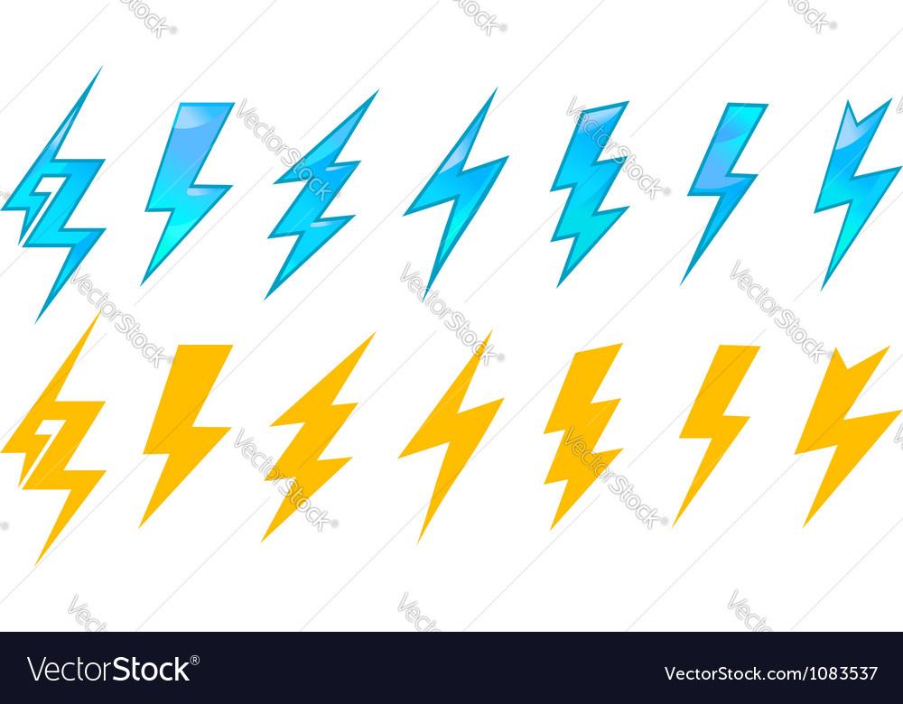 Lightning icons and symbols