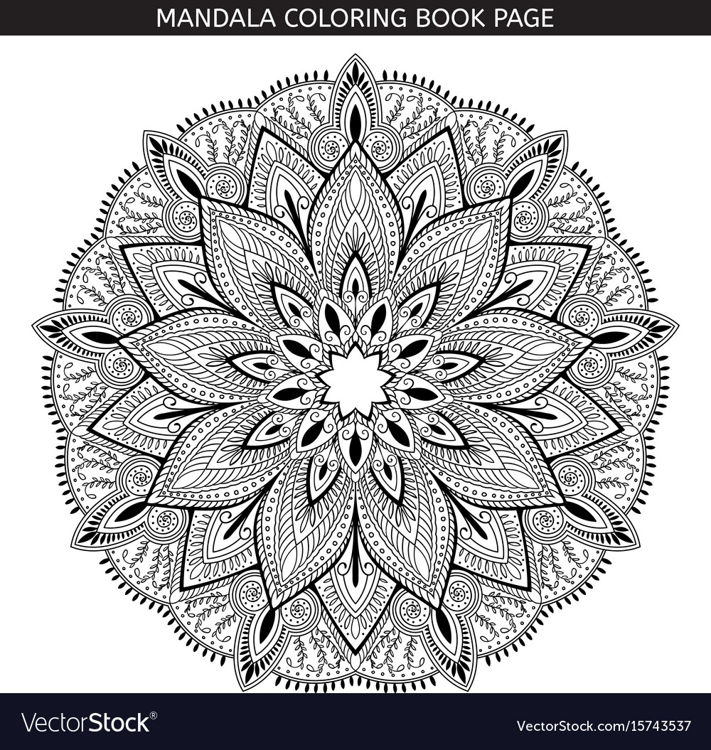 Mandala coloring book pages indian antistress