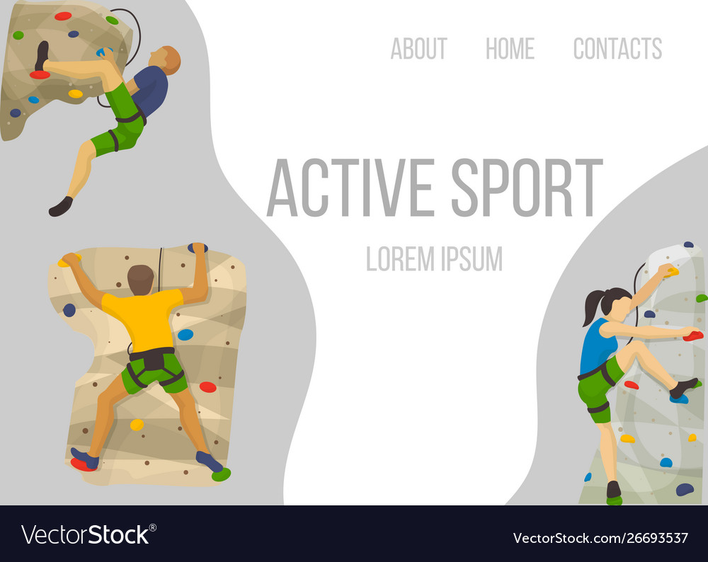 Mountain climbing sport web template