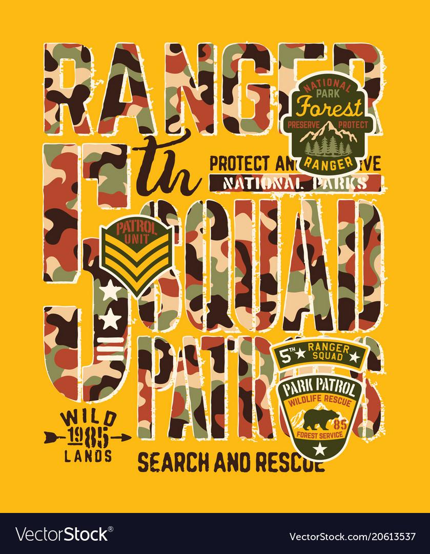National park forest ranger patrol unit